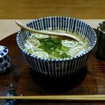 甚三紅 - 1,800円ランチコース 関西出汁の乾麺うどん