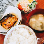 緑亭 - サバ煮つけ定食
