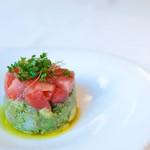 Gluten Free Dining Tsukuru - ホタテとエビとアボカドのタルタル