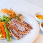 Gluten Free Dining Tsukuru - 厚切りポークソテー2色ソース