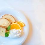 Gluten Free Dining Tsukuru - シフォンケーキ豆乳クリーム添え