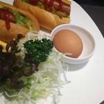 食堂カフェ COCO家 - ホットドッグのモーニング