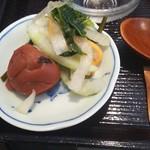 食堂カフェ COCO家 - お漬け物