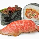 佰食屋肉寿司専科 - テイクアウト国産牛肉寿司3種盛