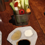 キュイジーヌ・ド・オオサカ・リョウ - スティック野菜&3種のタレ(塩・ソース・白醤油)