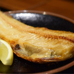 Uomamireshinkichi - ホッケの塩焼定食@税込800円:いいテリ