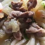 谷川製麺所 - イノシシ肉、ゴロゴロでした。