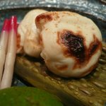 新鮨し - 河豚の白子焼き アップ