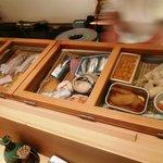 新鮨し - 木枠のカッコいいネタケース