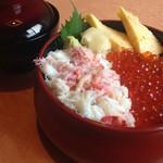 魚菜しばた - 料理写真:かにいくら丼