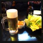 陽だまり - 生ビール&お通し