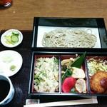 そば処 おきな - 里山弁当 1190円(平日のみ)
