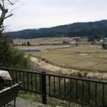 そば処 おきな - 駐車場の横の田園風景