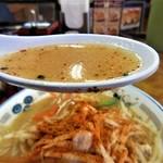 山田うどん - まずはスープから