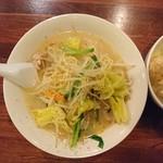 中華そば ほんこん - 料理写真:2017年2月 野菜タンメン 850円+税