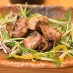 かしわ屋源次郎 博多シティ - 源次郎セットの地鶏の炙り焼き