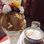 あべまき茶屋 - ほうじ茶パフェ