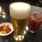 中華料理 彩宴 - 生とカシスオレンジ?←