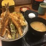 丸の内天ぷらめし 下の一色 - 温泉卵付きで1080円