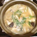 五鐵 夢境庵 - あんこう鍋 アンキモのどぶ汁仕立て