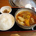 Umedameigetsukan - カルビスープセット(\950)