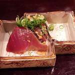 日本料理 百屋 - 初かつおの藁焼き