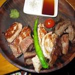わたなべ精肉店 - 2016年の本日の肉盛り合わせ2030円