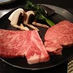 鉄板焼 銀明翠 - お肉二人分 サーロインとヒレ