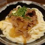 宮武讃岐製麺所 - 肉のせ釜玉