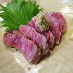 ステーキハウス キッチンリボン - まさにとろけちゃう松阪牛のたたき♪
