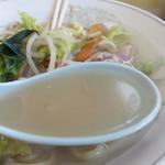 御食事処 大門 - あっさり塩スープ感覚です。