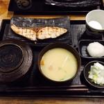 越後屋 三太夫 - 寒ブリ塩焼き定食(990円)