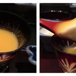 雅しゅとうとう - 滔々ランチのデザートは酒粕プリンのオレンジソース