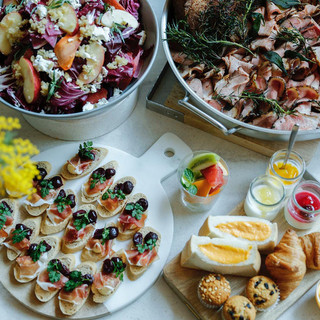 モーニングは名古屋の食材を使用した料理が並ぶブッフェスタイル