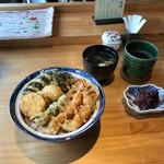 てんぷら阿部 - 2017.4)特製天丼(1500円)
