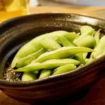 うどんや ぼの - ほくほく茹でたて枝豆