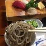 寿司ショップ彩 - 蕎麦アップ