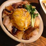 中華そば カリフォルニア - ミニチャーシュウ玉子丼(300円)
