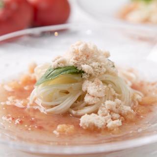 【油】×【パン粉】+【サラダ】×【豆腐】×【素麺】
