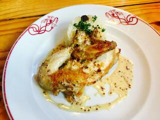 ル・コントワール・オクシタン - スペイン産 雌雛鶏のロースト 粒マスタードソース