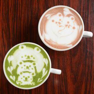 ◆squadcafeといえば、とってもキュートなラテアート♪