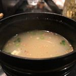 焼鶏あきら - 鳥スープ