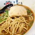 Mr.こってり麺 清乃 - 2017年1月 こってり和歌山ラーメンの麺の具合withチャーシュー
