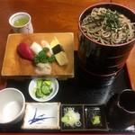 寿司ショップ彩 - ドバそば!にぎりセット ¥1030