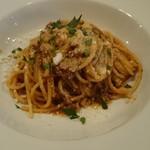 食堂Tavolino - 牛肉と白いんげん豆のラグーソースパスタ