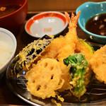 えびのや - 金目鯛と春野菜の定食1004円