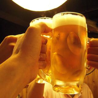 価格破壊!平日限定生ビールが『190円』!