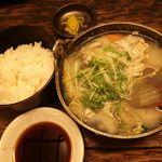 なにわ亭 - ランチ・カキぽん酢鍋定食 900円 2015年12月