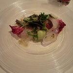 レストランキハチ - 前菜・真鯛のカルパッチョ
