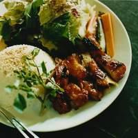 ザリガニカフェ - honey grilled chicken plate